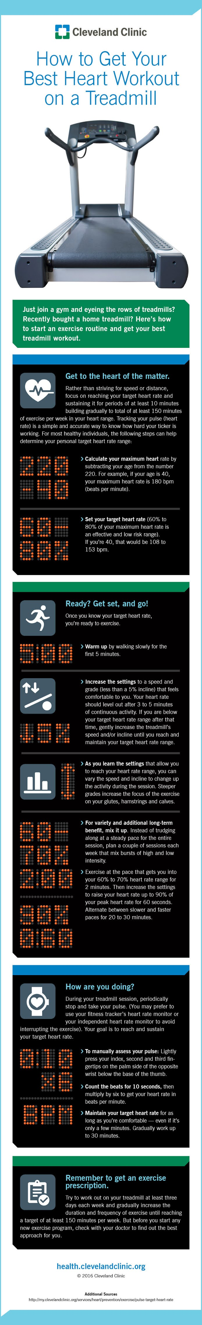 How to Get Your Best Heart Workout on a Treadmill #infographic #Health & Fitness #Exercise #Treadmill