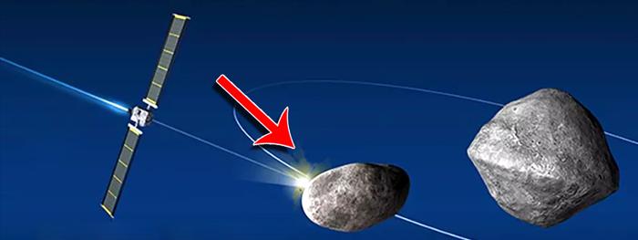 colisão com asteroide didymos - chuva de meteoros
