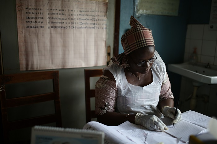 Working in a health clinic without electricity in Ghana