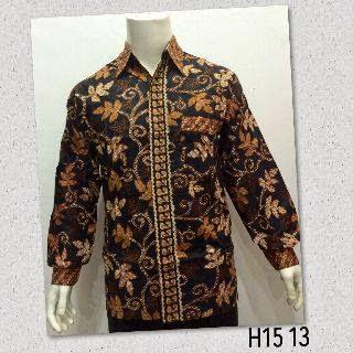 Model Terbaru Baju Kemeja Batik Pria Lengan Panjang 2015