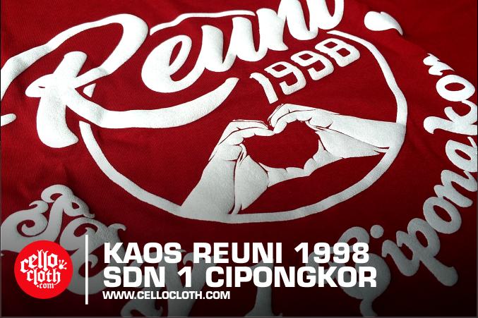 Sablon Foaming Kaos Reuni SDN Cipongkor Jabar - Kaosreuni.web.id