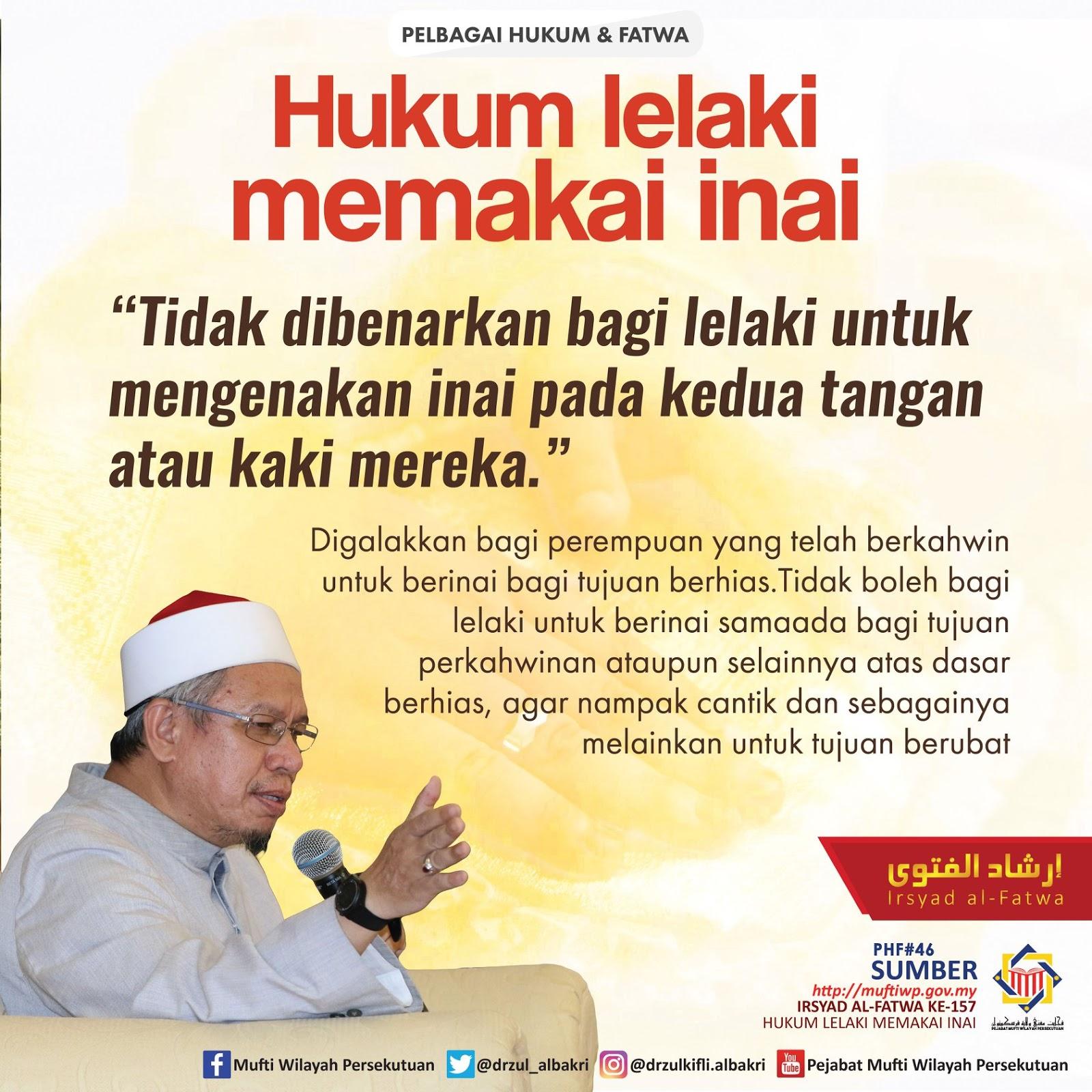 HUKUM LELAKI MEMAKAI INAI - Mufti Wilayah Persekutuan