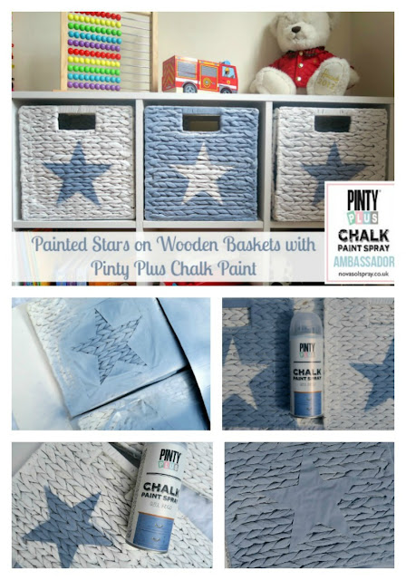 Painted Stars on Wooden Boxes with Pinty Plus Chalk Paint