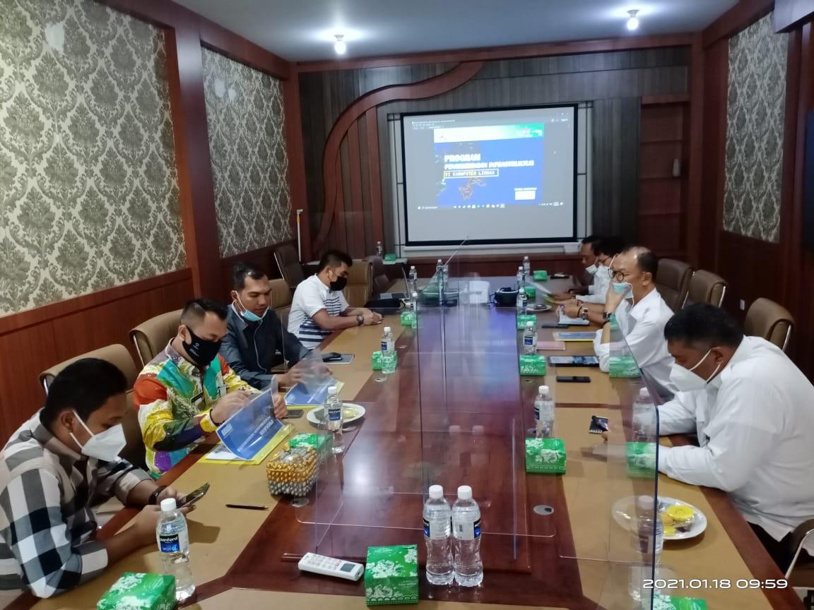 Plt Bupati Lingga Melakukan Koordinasi Dengan Balai Jalan Nasional dan Beraudensi Dengan Kepala Balai Wilayah Sungai Sumatera IV