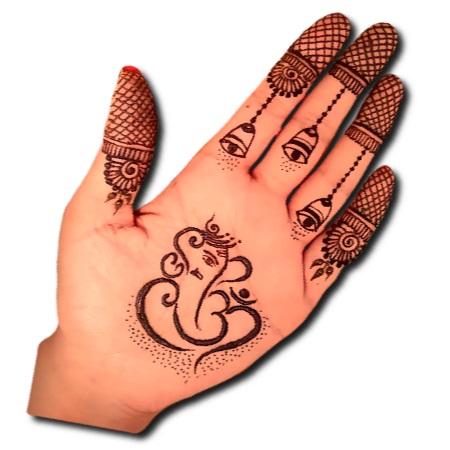 Ganpati Mehndi Designs