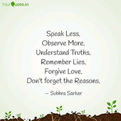 Speak Less Observe More