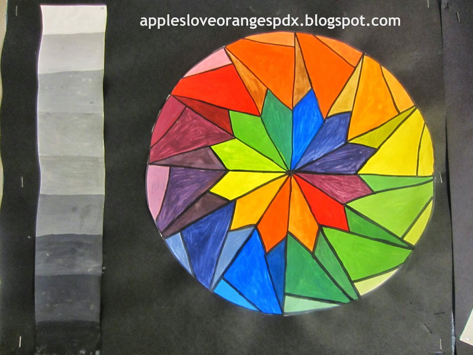 Mrs Art Teacher Complex Color Wheels And Guitars