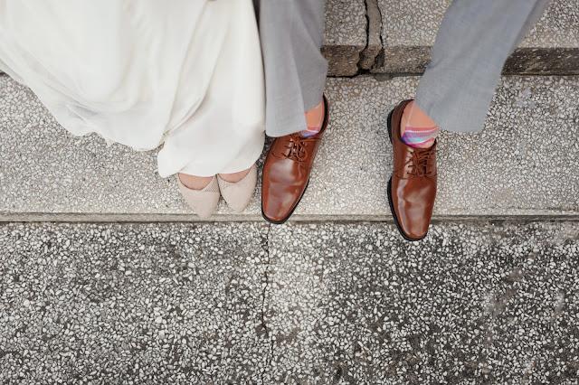 kolorowe ślubne buty