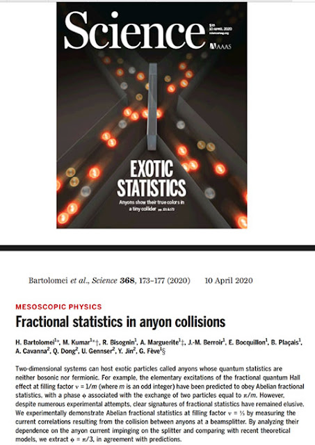 Fractional statistics in anyon collisions finally demonstrated (Source: Frank Wilczek at TDLI lecture)
