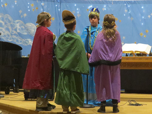 Christmas pageant magi and King Herod