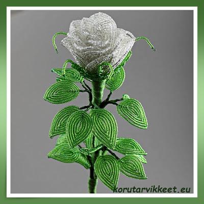 Helmikukka - ruusu - Preciosa siemenhelmet, kuparilanka - askartelutarvikkeet edullisesti