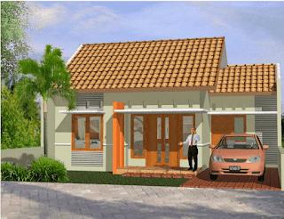 Denah Rumah Sederhana Minimalis Type 36 Serta Desainnya