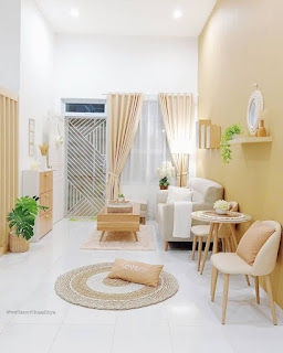 desain ruang keluarga Rumah Modern dengan Mushalla Terbaik Tahun 2021