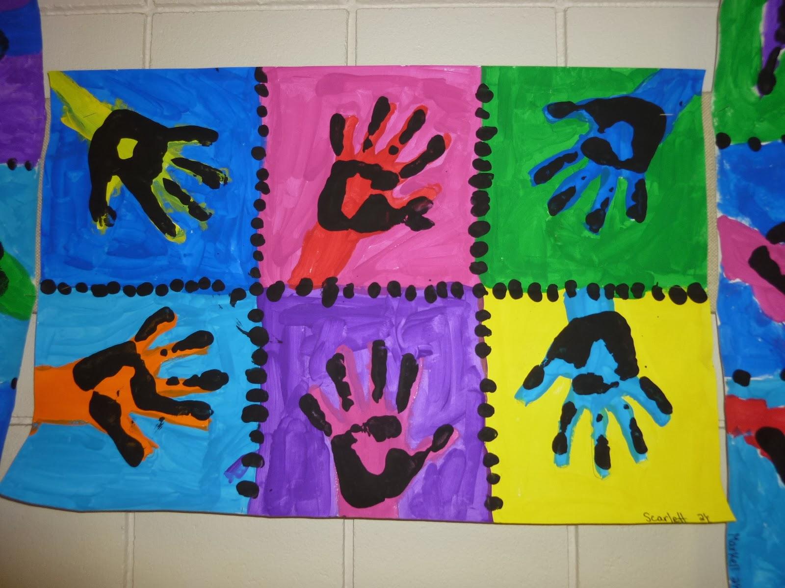Mrs Werner S Art Room 2nd Grade Warhol Printmaking