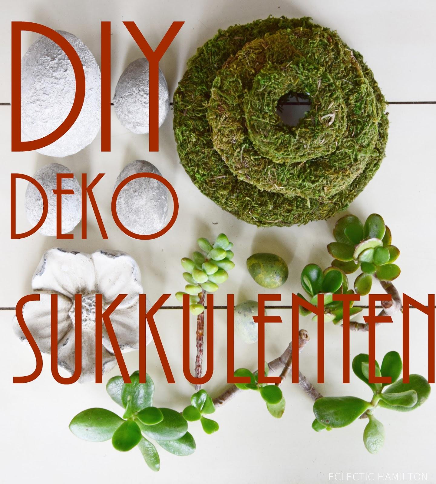 Deko mit Sukkulenten ohne Erde! Die perfekte Deko für euren Tisch, Konsole und Sideboard