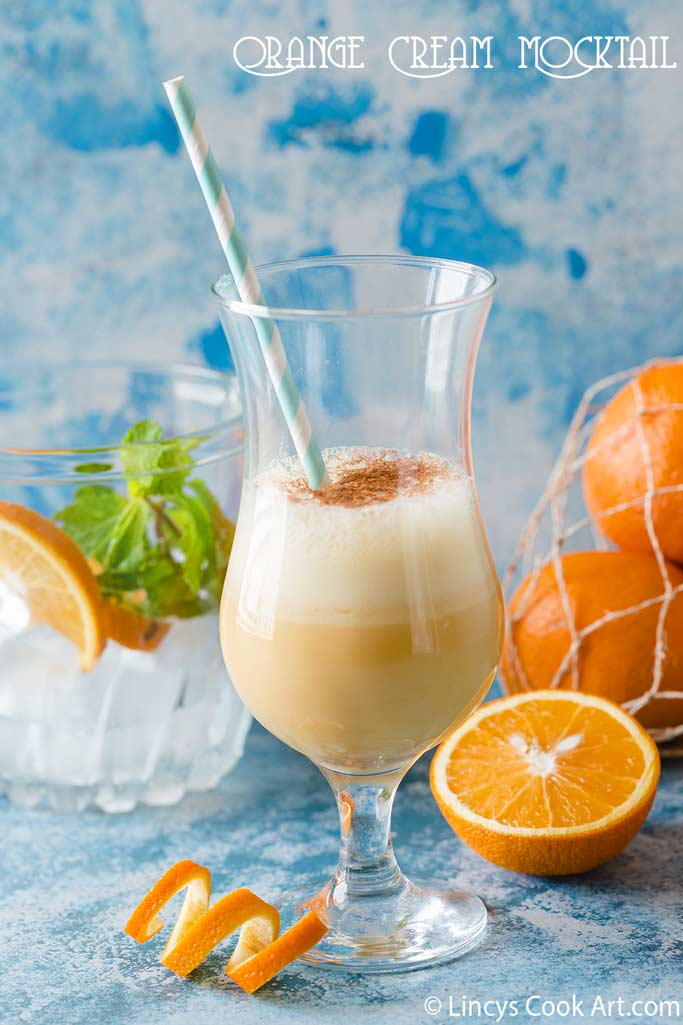 Orange cream mocktail recipe
