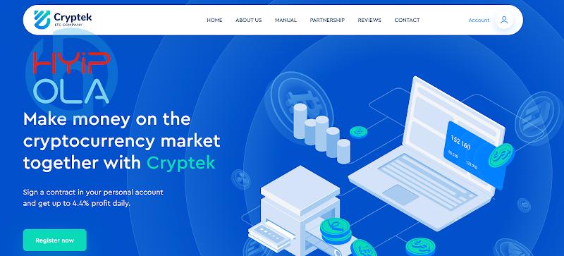 [SCAM] Review CrypTek - Dự án đến từ admin chuyên nghiệp, lãi từ 2.5% hằng ngày mãi mãi