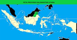 Peta Provinsi Kalimantan Utara