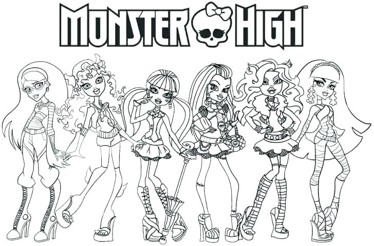 Monster High Coloring Book - Show Draculaura / Semi Coloring page ...