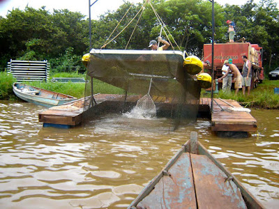 balsa de despesca em tanque rede