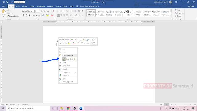 Cara Copy, Cut dan Paste di Microsoft Word Pemula