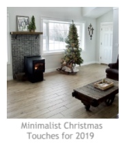 Minimalist Christmas Touches for 2019 at Pieced Pastimes