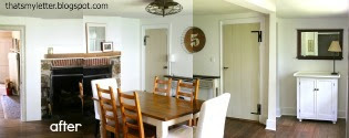 primitive farmhouse dining room after