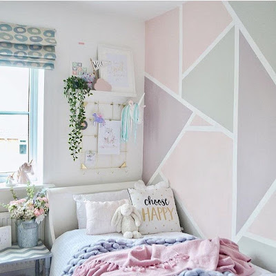 quarto de menina parede de destaque girl bedroom decor