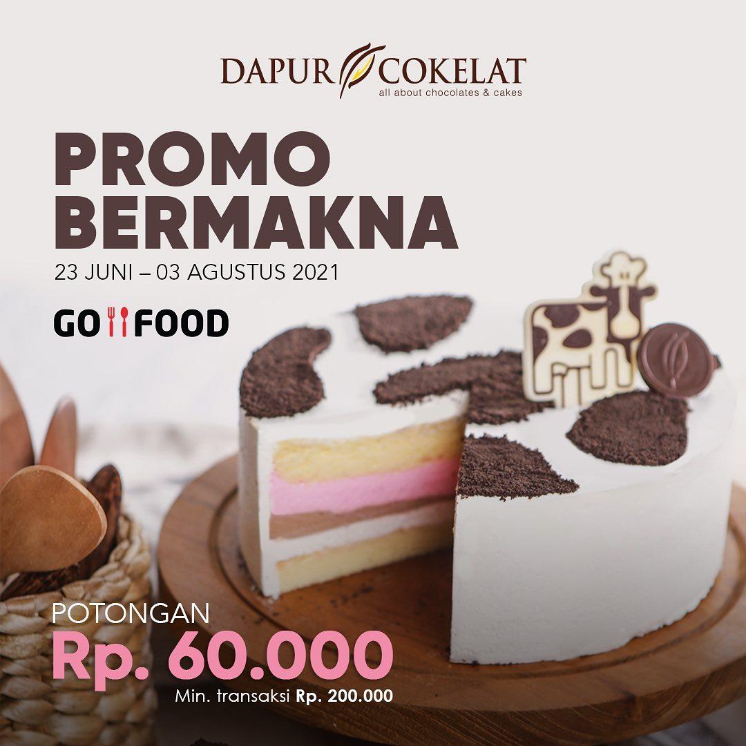 DAPUR COKELAT Promo GOFOOD BERMAKNA – DISKON Rp 60.000