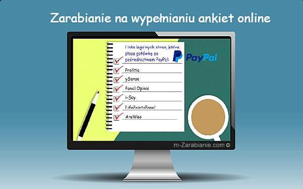 Zarabianie w Internecie na wypełnianiu ankiet.