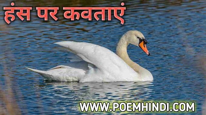 🦢 हंस पंक्षी पर कविता | Poem on Swan In Hindi