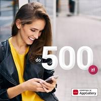 Zyskaj do 500 zł w promocji konta w Millennium w Huawei