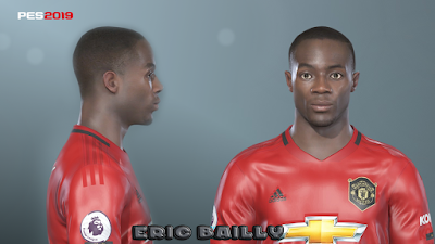 PES 2019 Faces Eric Bertrand Bailly by Prince Hamiz