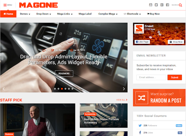 Mag One Blogger Template Free Download