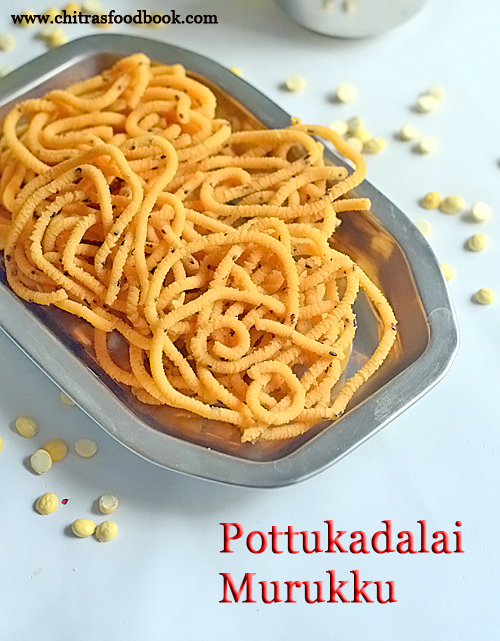 Pottukadalai murukku recipe - Roasted gram dal murukku
