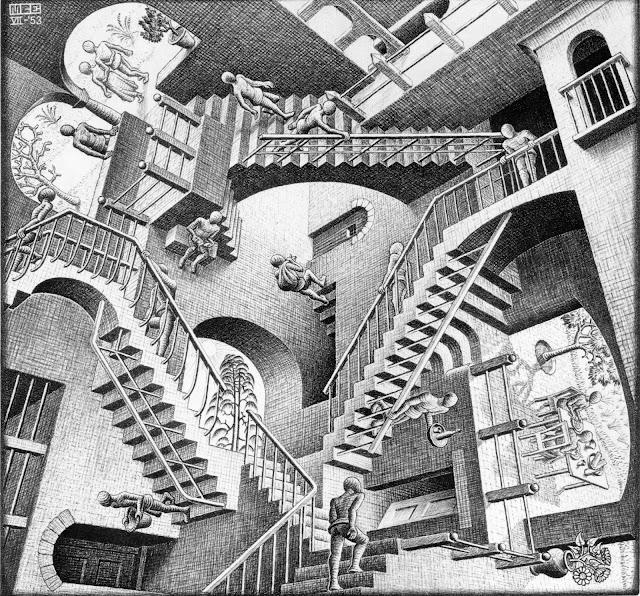 Relativity, de M C Escher