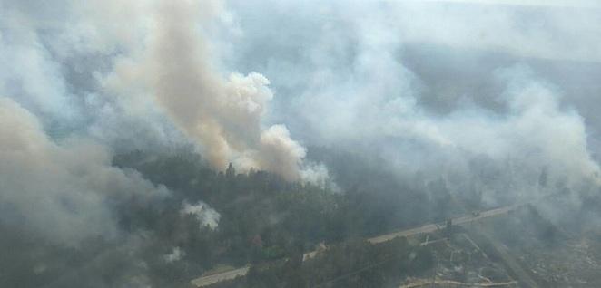 Μεγάλη πυρκαγιά καταστρέφει τη ζώνη αποκλεισμού του Τσερνομπίλ.