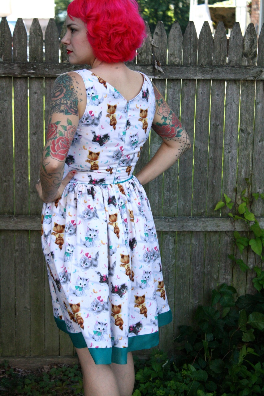 Gertie S New Blog For Better Sewing Kitty Cat Dress