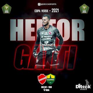 Goleiro Heitor Gatti, comemora sua convocação para o time profissional do Vila Nova