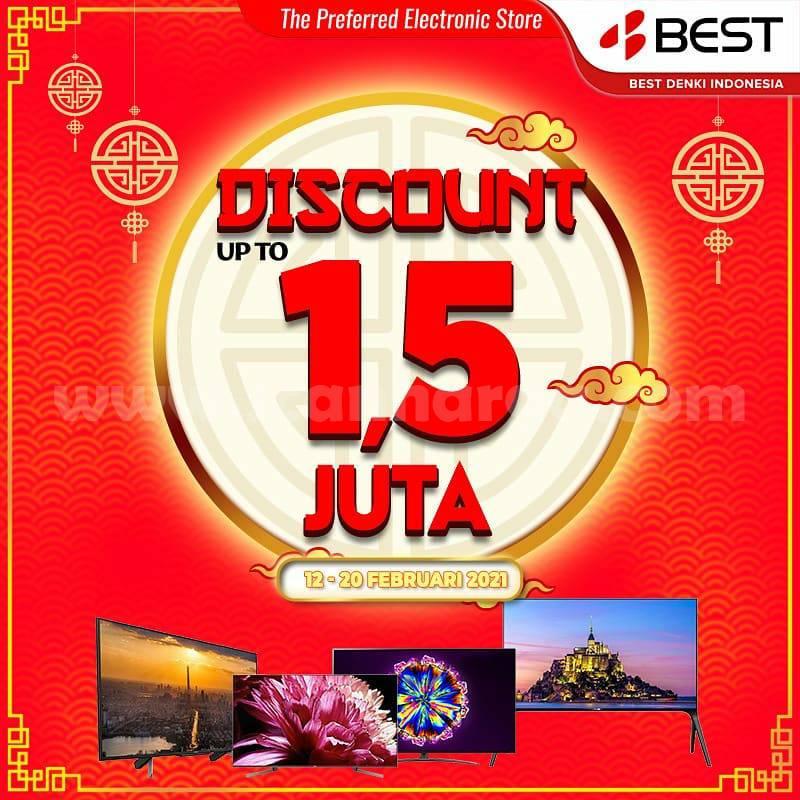 BEST DENKI Promo Diskon Rp 1.5 Juta untuk Setiap Pembelian TV