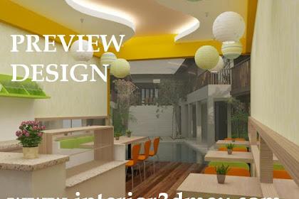 Jasa desain kios lobby appart mini cafe jus baso