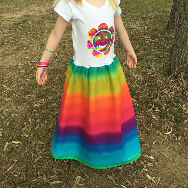 Maxi Rainbow T-shirt Dress ~ Threading My Way