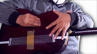 diy membuat cajon menggunakan body gitar