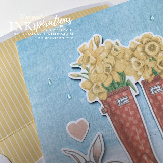 By Angie McKenzie for Stamping INKspirations Blog Hop; Click READ or VISIT to go to my blog for details! Featuring the No Matter the Weather Card Kit along with the Bonus Stamp Set from the March 2020 No Matter the Weather Paper Pumpkin Kit, the Pampered Pets Cling Stamp Set and the Count on Me Cling Stamp Set by Stampin' Up!® to create a fun-themed encouragement card; #encouragementcards #stampinginkspirationsbloghop #naturesinkspirations #nomattertheweather #cardkitcollection #pamperedpetstampset #countonmestampset #splishsplash #rain #galoshes #handmadecards #coloringwithblends #prettyenvelopes  #simplestamping