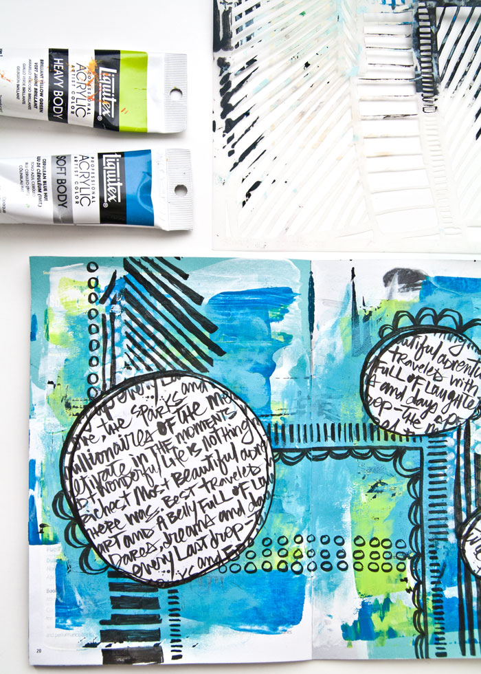 Art Journal Page Video tutorial by Kim Dellow
