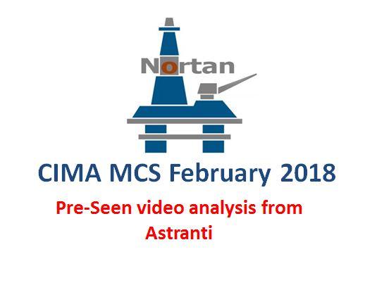 MCS February 2018 Pre-seen video analysis  - CIMA Management Case Study