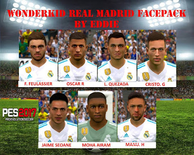PES 2017 Facepack Real Madrid Castilla by Eddie Facemakers