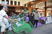 Kodim Sragen Bekerjasama Dengan Pemkab Bagikan 8000 Paket Sembako