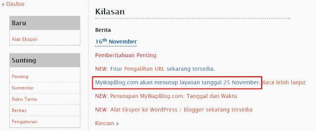 Kabar Buruk, Sedih, kecewa Kenapa Situs Mywapblog DiTutup..!!!!