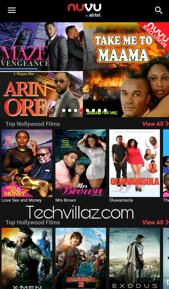 NUVU By Airtel Lets You Download Hollywood And Nollywood Movies, Tv Series, Musics For Free